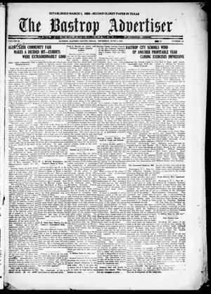Primary view of object titled 'The Bastrop Advertiser (Bastrop, Tex.), Vol. 68, No. 44, Ed. 1 Thursday, June 2, 1921'.