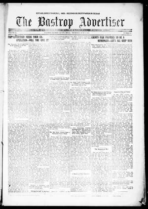Primary view of object titled 'The Bastrop Advertiser (Bastrop, Tex.), Vol. 68, No. 45, Ed. 1 Thursday, June 9, 1921'.