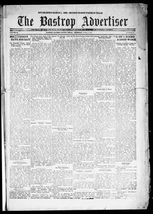 Primary view of object titled 'The Bastrop Advertiser (Bastrop, Tex.), Vol. 68, No. 46, Ed. 1 Thursday, June 16, 1921'.