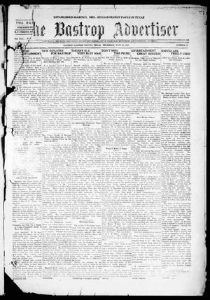 Primary view of object titled 'The Bastrop Advertiser (Bastrop, Tex.), Vol. 68, No. 47, Ed. 1 Thursday, June 23, 1921'.