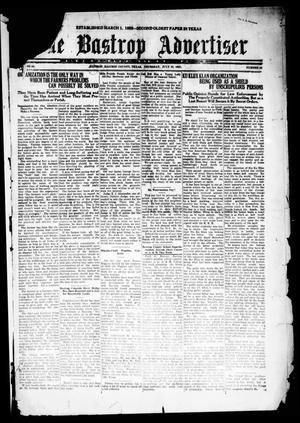 Primary view of object titled 'The Bastrop Advertiser (Bastrop, Tex.), Vol. 68, No. 52, Ed. 1 Thursday, July 28, 1921'.