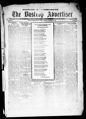 Primary view of object titled 'The Bastrop Advertiser (Bastrop, Tex.), Vol. 69, No. 15, Ed. 1 Thursday, November 10, 1921'.