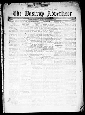 Primary view of object titled 'The Bastrop Advertiser (Bastrop, Tex.), Vol. 69, No. 16, Ed. 1 Thursday, November 17, 1921'.