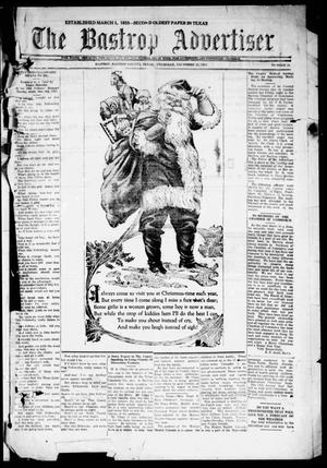 Primary view of object titled 'The Bastrop Advertiser (Bastrop, Tex.), Vol. 69, No. 21, Ed. 1 Thursday, December 22, 1921'.
