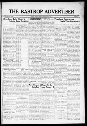 Primary view of object titled 'The Bastrop Advertiser (Bastrop, Tex.), Vol. 72, No. 32, Ed. 1 Thursday, January 1, 1925'.