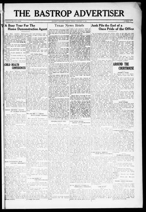 Primary view of object titled 'The Bastrop Advertiser (Bastrop, Tex.), Vol. 72, No. 33, Ed. 1 Thursday, January 8, 1925'.