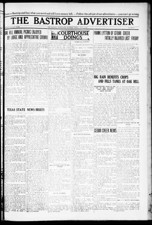 Primary view of object titled 'The Bastrop Advertiser (Bastrop, Tex.), Vol. 72, No. 6, Ed. 1 Thursday, July 2, 1925'.