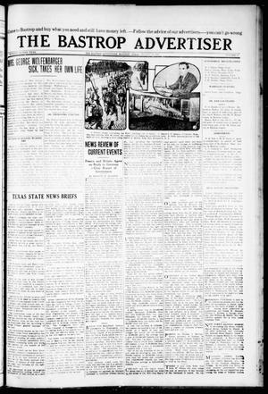Primary view of object titled 'The Bastrop Advertiser (Bastrop, Tex.), Vol. 72, No. 13, Ed. 1 Thursday, August 20, 1925'.