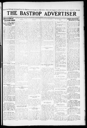 Primary view of object titled 'The Bastrop Advertiser (Bastrop, Tex.), Vol. 72, No. 16, Ed. 1 Thursday, September 10, 1925'.