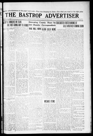 Primary view of object titled 'The Bastrop Advertiser (Bastrop, Tex.), Vol. 72, No. 29, Ed. 1 Thursday, December 10, 1925'.
