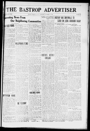 Primary view of object titled 'The Bastrop Advertiser (Bastrop, Tex.), Vol. 74, No. 25, Ed. 1 Thursday, November 17, 1927'.