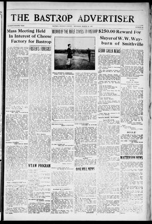 Primary view of object titled 'The Bastrop Advertiser (Bastrop, Tex.), Vol. 74, No. 44, Ed. 1 Thursday, March 29, 1928'.