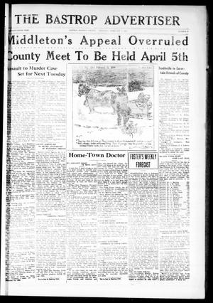 Primary view of object titled 'The Bastrop Advertiser (Bastrop, Tex.), Vol. 75, No. 37, Ed. 1 Thursday, February 7, 1929'.