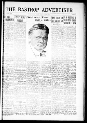 Primary view of object titled 'The Bastrop Advertiser (Bastrop, Tex.), Vol. 75, No. 41, Ed. 1 Thursday, March 7, 1929'.