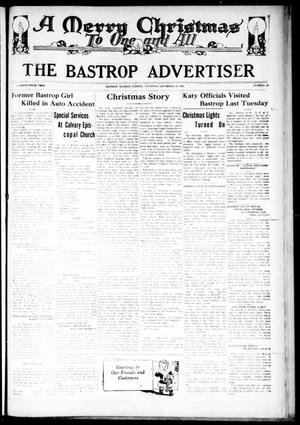 The Bastrop Advertiser (Bastrop, Tex.), Vol. 76, No. 30, Ed. 1 Thursday, December 19, 1929