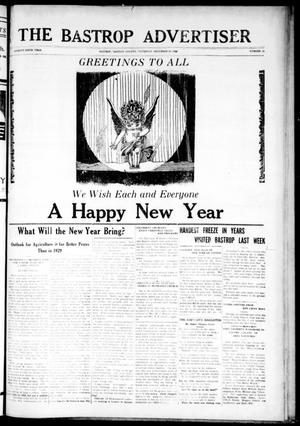 Primary view of object titled 'The Bastrop Advertiser (Bastrop, Tex.), Vol. 76, No. 31, Ed. 1 Thursday, December 26, 1929'.
