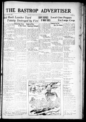 Primary view of object titled 'The Bastrop Advertiser (Bastrop, Tex.), Vol. 77, No. 17, Ed. 1 Thursday, July 10, 1930'.