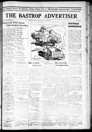 Primary view of object titled 'The Bastrop Advertiser (Bastrop, Tex.), Vol. 77, No. 19, Ed. 1 Thursday, July 24, 1930'.