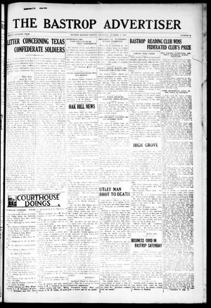 Primary view of object titled 'The Bastrop Advertiser (Bastrop, Tex.), Vol. 77, No. 29, Ed. 1 Thursday, October 2, 1930'.
