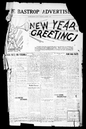 Primary view of object titled 'The Bastrop Advertiser (Bastrop, Tex.), Vol. 77, No. 42, Ed. 1 Thursday, January 1, 1931'.
