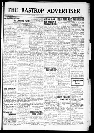 Primary view of object titled 'The Bastrop Advertiser (Bastrop, Tex.), Vol. 78, No. 33, Ed. 1 Thursday, November 5, 1931'.