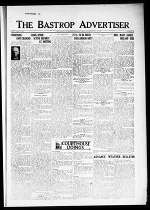 Primary view of object titled 'The Bastrop Advertiser (Bastrop, Tex.), Vol. 81, No. 16, Ed. 1 Thursday, July 12, 1934'.
