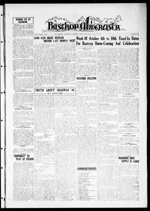 Primary view of object titled 'Bastrop Advertiser (Bastrop, Tex.), Vol. 83, No. 22, Ed. 1 Thursday, August 20, 1936'.