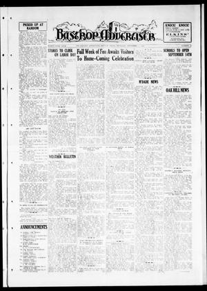Primary view of object titled 'Bastrop Advertiser (Bastrop, Tex.), Vol. 83, No. 24, Ed. 1 Thursday, September 3, 1936'.