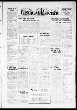 Primary view of object titled 'Bastrop Advertiser (Bastrop, Tex.), Vol. 83, No. 25, Ed. 1 Thursday, September 10, 1936'.