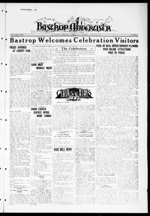 Primary view of object titled 'Bastrop Advertiser (Bastrop, Tex.), Vol. 83, No. 31, Ed. 1 Thursday, October 22, 1936'.