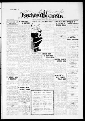 Primary view of object titled 'Bastrop Advertiser (Bastrop, Tex.), Vol. 83, No. 37, Ed. 1 Thursday, December 3, 1936'.
