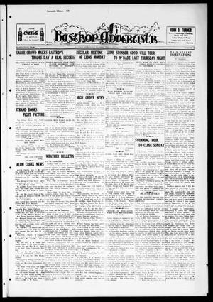 Primary view of object titled 'Bastrop Advertiser (Bastrop, Tex.), Vol. 84, No. 25, Ed. 1 Thursday, September 9, 1937'.