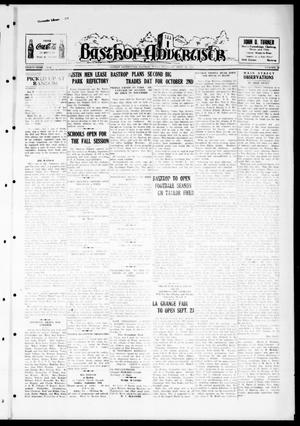 Primary view of object titled 'Bastrop Advertiser (Bastrop, Tex.), Vol. 84, No. 26, Ed. 1 Thursday, September 16, 1937'.