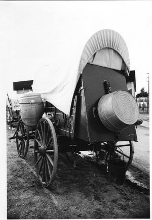 Primary view of object titled 'Texas Sesquicentennial Wagon Train in Abilene'.