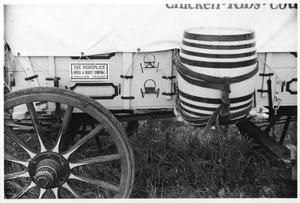 Primary view of object titled 'Texas Sesquicentennial Wagon Train in Turkey'.