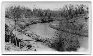 Primary view of object titled '[Photograph of White Rock Creek- Explosion]'.
