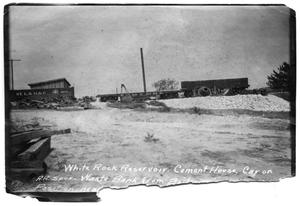 Primary view of object titled '[Photograph of White Rock Creek- Cement House]'.