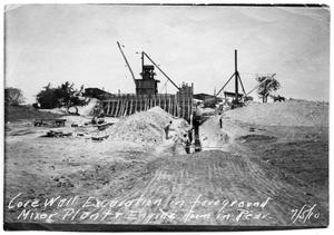 Primary view of object titled '[Photograph of the Core Wall Excavation at White Rock Lake]'.