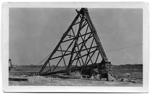 Primary view of object titled '[Photograph of a Triangular Drill]'.