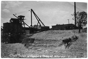 Primary view of object titled '[Photograph of Construction near White Rock Lake]'.