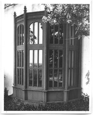 Primary view of object titled '[Photograph of a DeGolyer Estate Window]'.