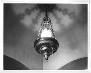 Primary view of object titled '[Photograph of a Chandelier at the DeGolyer Estate]'.