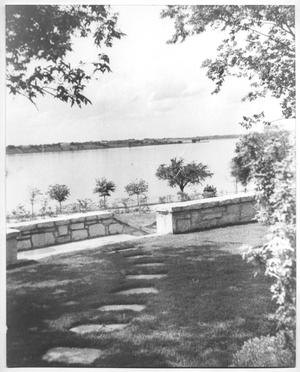 Primary view of object titled '[Photograph of the DeGolyer Estate View of White Rock Lake]'.