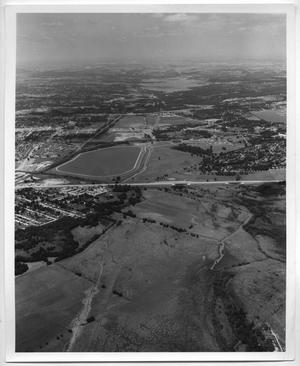 Primary view of object titled '[Aerial View of Parkdale Lake and White Rock Lake]'.