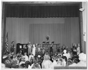 Primary view of object titled '[Photograph of a Halloween School Program]'.
