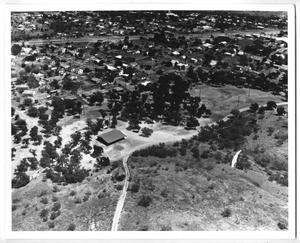 Primary view of object titled '[Aerial View of Houses from a Hill Top]'.