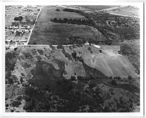 Primary view of object titled '[Aerial View of Fields and Houses]'.
