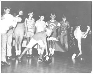 Primary view of object titled '[Photograph of Students Learning How to Bowl]'.