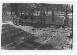 [Photograph of a Bowling Game in Reverchon Park]