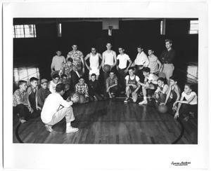 [Photograph of the City of Dallas Park Department Boy's Basketball Team]